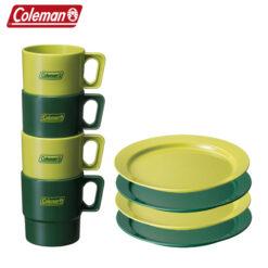 콜맨 캠핑용 클린 머그컵 / 플레이트 접시 4PCS