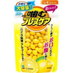씹는 브레스 케어 파우치 레몬 민트 100알