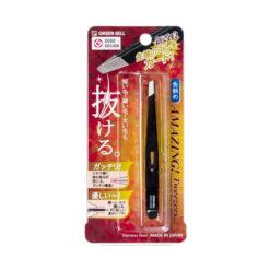 일본 그린벨 족집게 눈썹 솜털 정리 제모 트위저 대각선 유형블랙