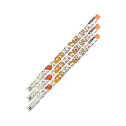 칩 & 데일 지우개 기능 2B 연필 행복 타임 – 3개1세트