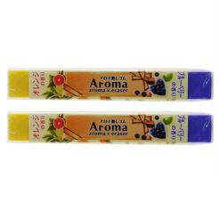4991863475547 아로마 향기있는 지우개 오렌지 × 블루 베리 2개1세트