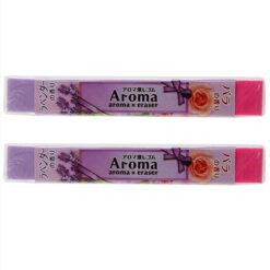 4991863475578 아로마 향기있는 지우개 라벤더 × 로즈 2개1세트