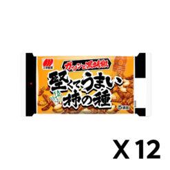단단하고 맛있는 가키노타네구로 후추 맛 182g 12개 세트