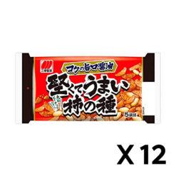 단단하고 맛있는 가키노타네 맛 간장 맛 192g 12개 세트